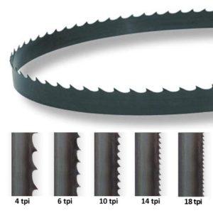 Wood cutting bandsaw blade